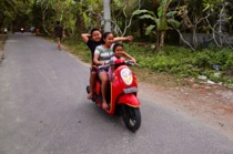 Threesome on Scooter, Nusa Lembongan, Bali, by marcorossimusic